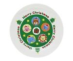 [取扱停止]クリスマスケーキ皿(アニマルズ) 77654