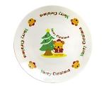[取扱停止]クリスマス ケーキ皿(ツリー&ベア)