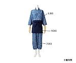 はっぴレディス7分袖 薄藍/濃紺 雪見柄 3-313