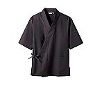 はっぴ 男女兼用 7分袖 黒 3-701