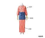 和風ラップスカート 薄紅 桜吹雪柄 7-411