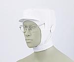 ショート頭巾帽子 白 エコ 9-1016