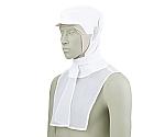 頭巾帽子 白/ベージュ エコ 9-1031
