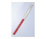 モノトーン竹菜箸 すべり止め付 赤 26-046A等