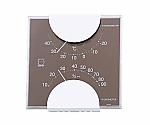 エルム・カラー温・湿度計 105×102×20mm 85g(クリアボックス)