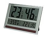 ジャンボソーラー温湿度計 404×277×21mm 1500g