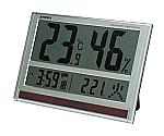 ジャンボソーラー温湿度計 404×277×21mm 1500g TD-8170