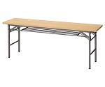 折りたたみテーブル W180cm 棚付き ナチュラル
