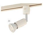 LEDハロゲンランプ用スポット ホワイト/ブラック