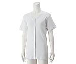 婦人3分袖大寸ワンタッチシャツ ホワイト