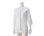 婦人7分袖大寸ワンタッチシャツ ホワイト