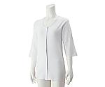 婦人7分袖大寸ホックシャツ ホワイト