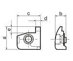 [CFG-5 ~] 押え金 突切り・溝入れ(CFGS形・CFGT形)工具用