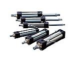 10MPa用複動形油圧シリンダ スイッチセット ウレタンゴムパッキン 軸直角方向フート形等