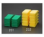80x160mm高耐久ネットスポンジ(黄) EA928AS-232