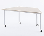 キャスターテーブル 台形 ナチュラル