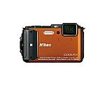 [取扱停止]ニコン デジカメ AW130 オレンジ 1605画素、光学5倍ズーム