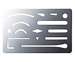 字消板(縦60×横93mm) ステンレスショウ