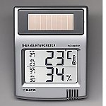 ソーラーデジタル温湿度計等