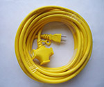 Extension Cord 3 Outlets Type 10m Black and others