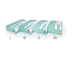 Plastic Gloves No 110 (With Powder) M 1 Case (100 Pieces/Box x 10 Boxes) LH-110-M