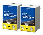 [取扱停止]互換インクカートリッジ EPSON用 IC5CL06W対応 カラー 2個パック PLE-E06C2P