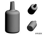 3Dプリンタ加工例 ビン形状
