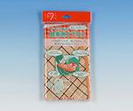 イワツキ食事用エプロン ポケットタイプ 120×60cm チェック柄オレンジ 007-70177