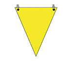 三角旗 黄無地 ターポリン 300×260mm