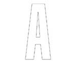アルファベットA~Z (白)・合成ゴム・1文字等
