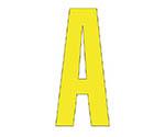 アルファベットA~Z (黄)・合成ゴム・1文字
