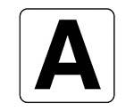 アルファベット表示ステッカーA~Z 5枚組 (中) 100×100 84581シリーズ等
