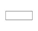 室名板白無地両面表示用 アクリル(白) サイズ:mm80×240