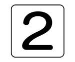 配管ステッカー 数字2 AS.24.2シリーズ等