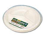 食品容器 バガスペーパーウェア (10枚パック) 仕切プレート PY-26 004466030