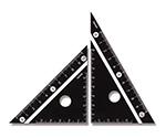 白黒三角定規