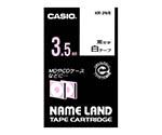 カシオ ネームランドテープ3.5mm幅 (白地/黒文字)