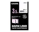 カシオ ネームランドテープ (透明地/黒文字)