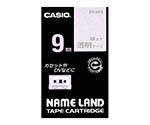 カシオ ネームランドテープ (透明地/銀文字)