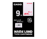 カシオ ネームランドテープ (透明地/赤文字)