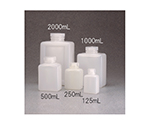 Square Reagent Bottle HDPE Transparent 125mL and others