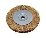 ホイール型軸付ブラシ 鋼線メッキ 250x19.05x25x125x62.5