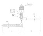 流量調整用ニードルバルブ Y形(ストレートタイプ) 芯棒材質:PTFE 2228シリーズ
