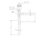 流量調整用ニードルバルブ L形(アングルタイプ) 芯棒材質:PTFE 2230シリーズ