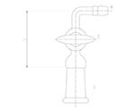 コック付排気管曲管 メス ガラスコック