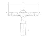 摺付三方コックⅢ型 オス ガラスコック 2458シリーズ