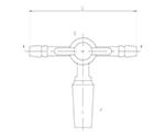 摺付三方コックⅢ型 オス PTFEコック 2460シリーズ