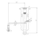 液サンプリングアダプター A ガラスコック 3584シリーズ