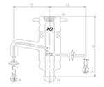 気液サンプリングアダプター ガラスコック 3586シリーズ