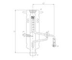 蒸発量測定装置 ガラスコック